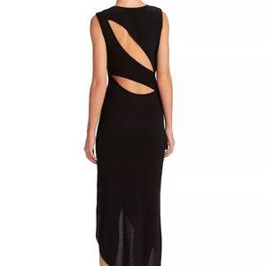 Haute Hippie Small Black Silk Maxi Cutout Dress